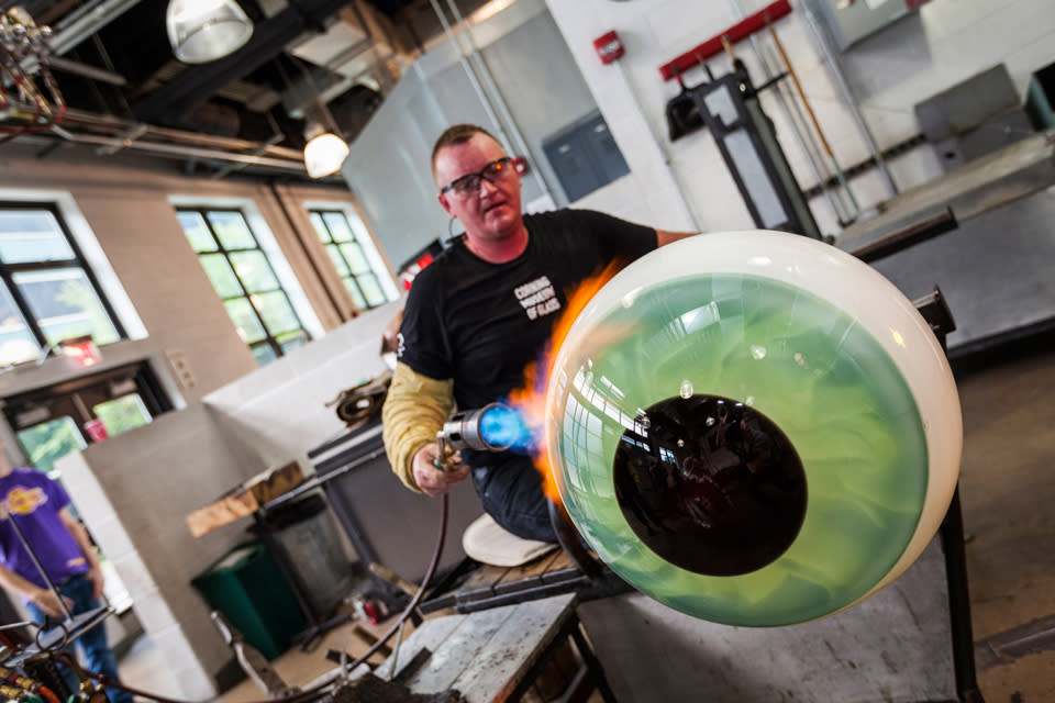 Hot Glass Show courtesy of The corning Museum of Glass