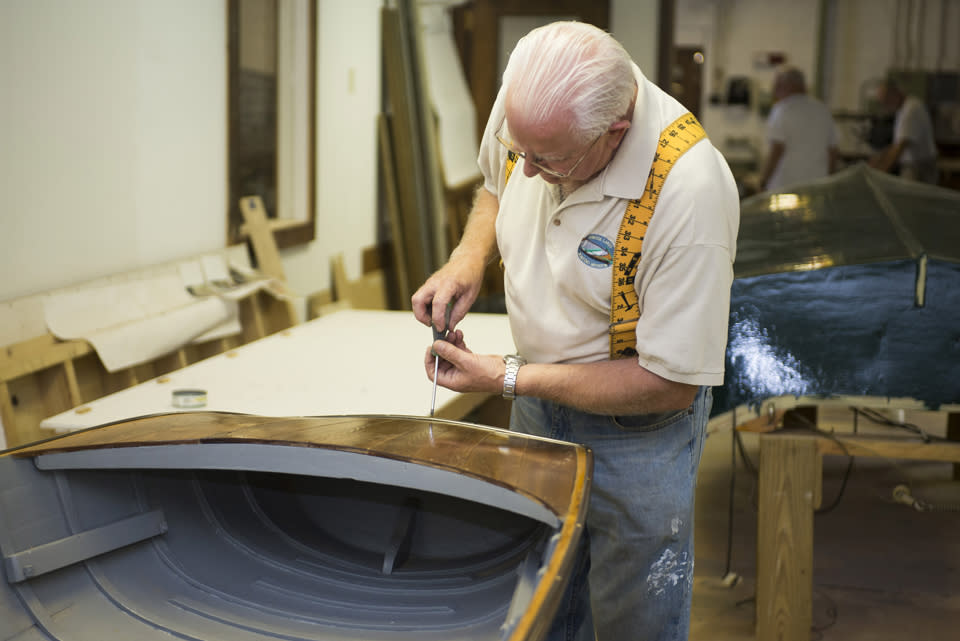 Finger Lakes Boating Museum Restoration Shop courtesy of Stu Gallagher