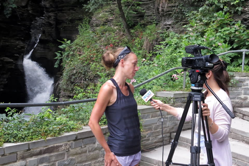 The Botanical Hiker Being Interviewed on WENY TV
