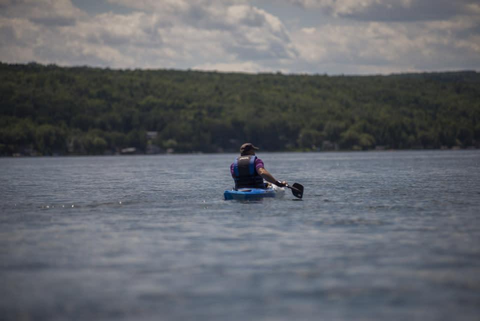 Kayaking Keuka Lake courtesy of Stu Gallagher
