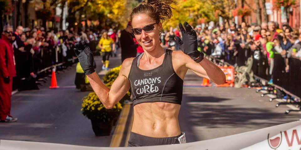 Morgan Burrows Wins the 2014 Wineglass Marathon courtesy of AD Wheeler