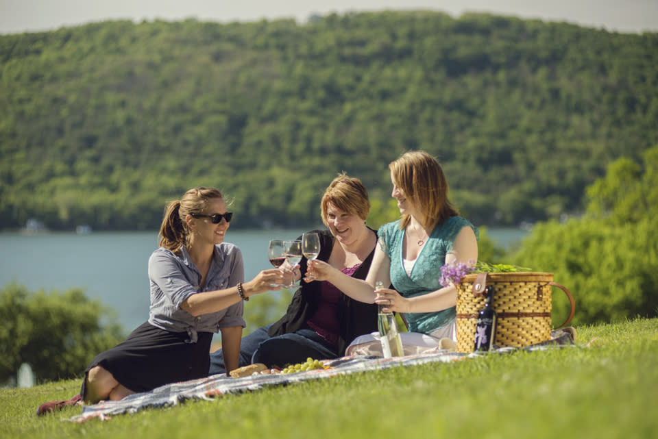 Picnic at Ravines Wine Cellars photo by Stu Gallagher