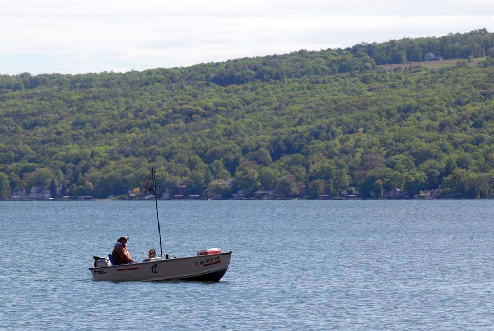 Early Morning Fishing on Keuka Lake
