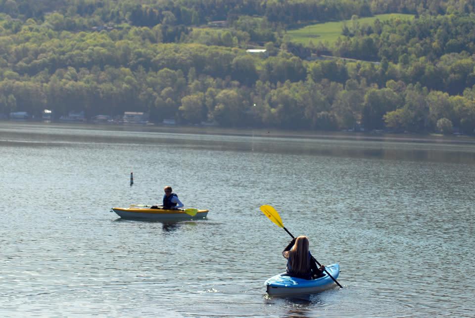 Morning Paddle on Keuka Lake