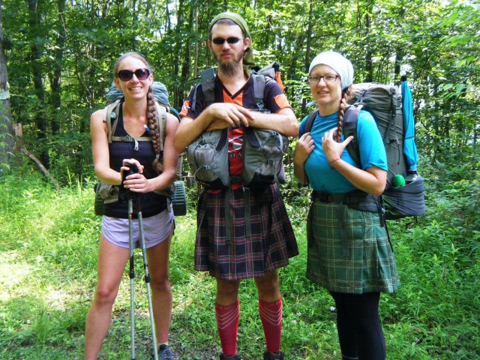 Fellow Hikers on Finger Lakes Trail courtesy of the Botanical Hiker