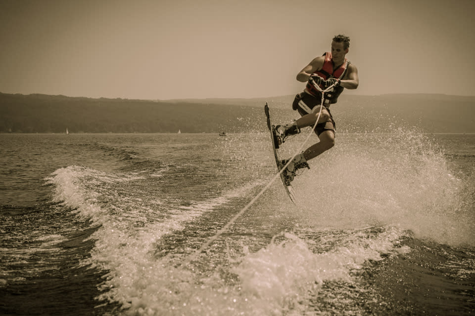 Waterskiing courtesy of Chris Brooks