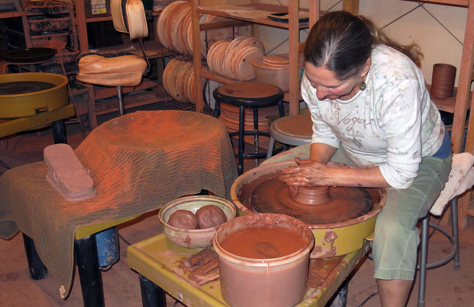 """Arts In Bloom"" Throwing Clay at Sommerville Pottery"