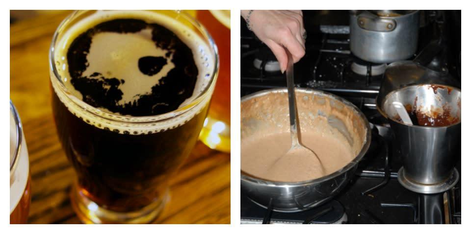Falling Leaf Porter & Beer Batter Pancakes with Ganache