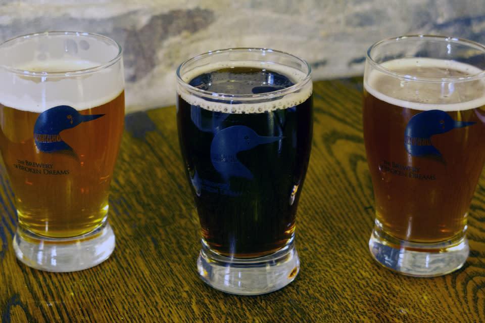 Brewery of Broken Dreams Flight of Craft Beers