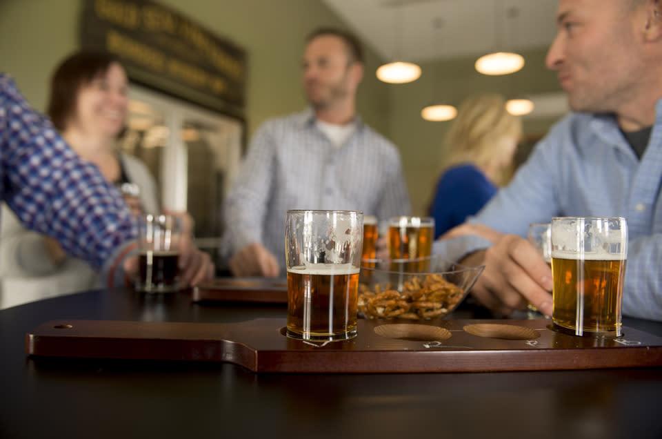 Friends Enjoying Brews at Steuben Brewing Company courtesy of Stu Gallagher