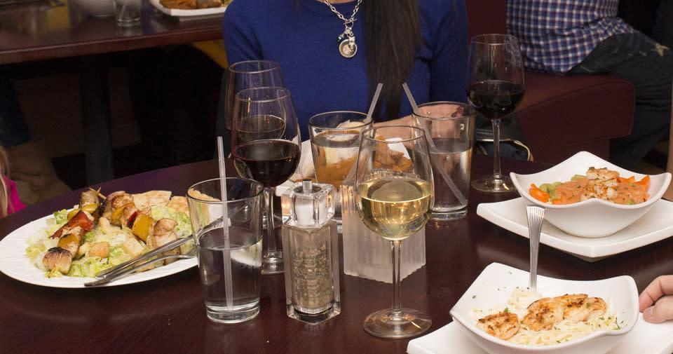 Friends Enjoying a Meal at Luna Mezza courtesy of Stu Gallagher