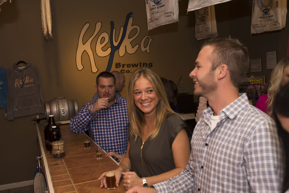 Couple Tasting Beer at Keuka Brewing Company courtesy of Stu Gallagher