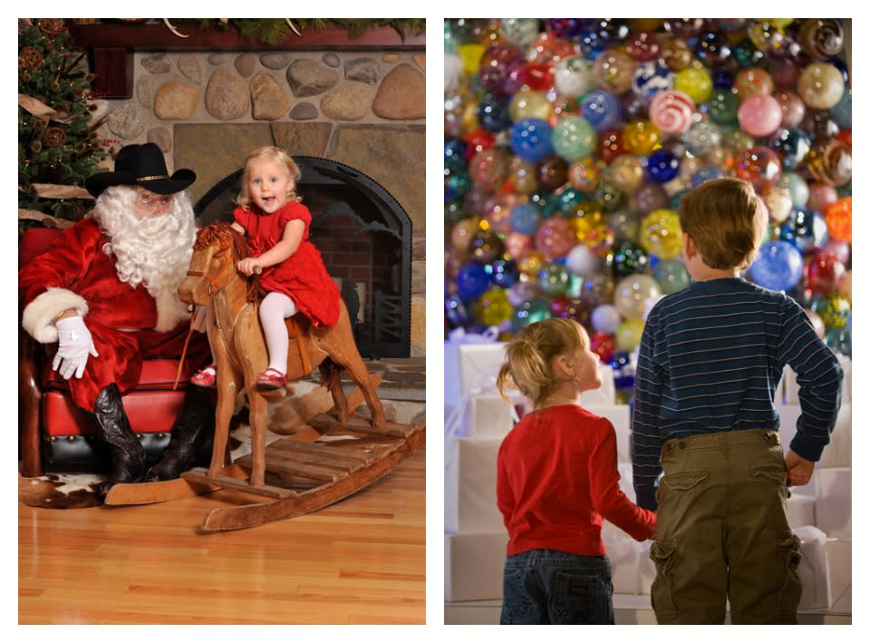 Cowboy Santa courtesy of The Rockwell Museum and Glass Ornament Tree courtesy of The Corning Museum of Glass