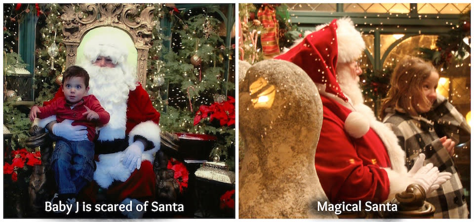 Magical Santa courtesy of Corning's Gaffer District