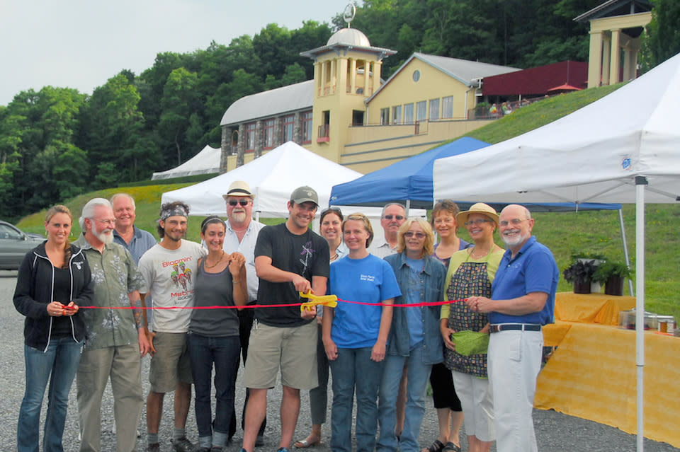 Ribbon Cutting for Farmers Market - photo by Ken Corey