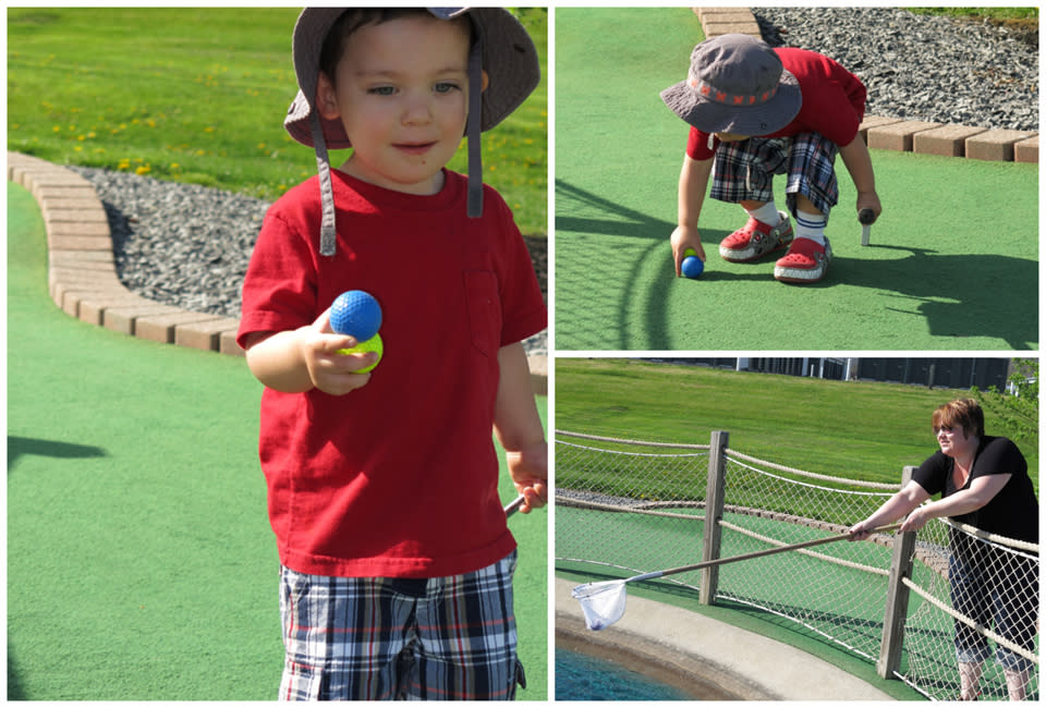 Breaking the rules of Mini Golf at Park Ave Sports Center