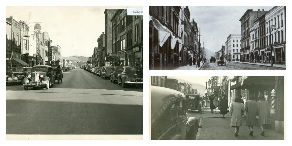 Historical photos of Market Street