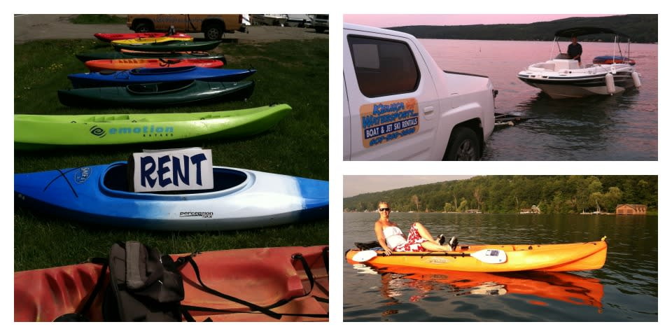 Rent boats, jet skis, kayaks, and stand-up paddleboards.