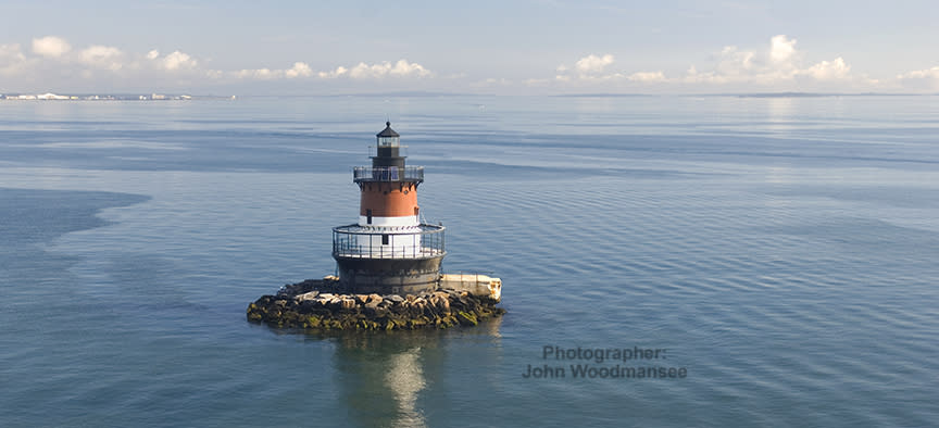 North Kingstown, Plumb Beach Lighthouse Panarama - John Woodmansee
