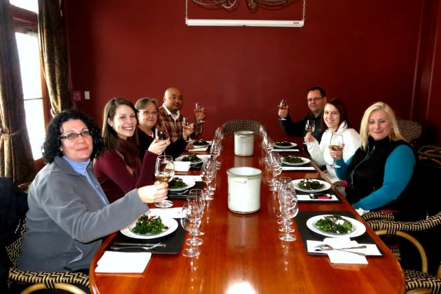 Fantastic lunch at Heron Hill Winery