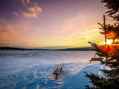 Icy Keuka Sunrise. Photo courtesy Jeremey Henries Photography.
