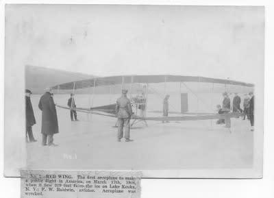 Red Wing Flight on Keuka Lake, 1908