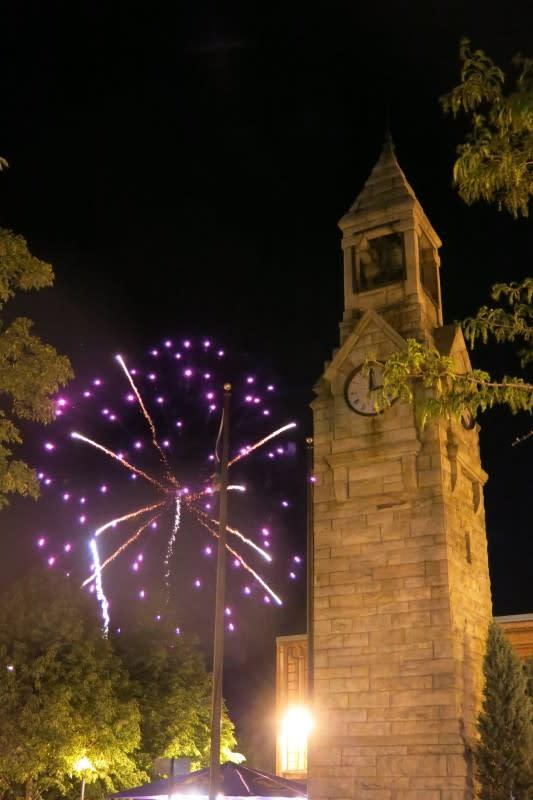 Fireworks light up the Crystal City