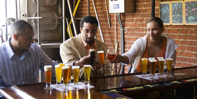 Market Street Brewing Company beer tasting