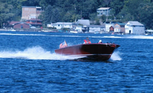 Classic wooden boat rides from owners.