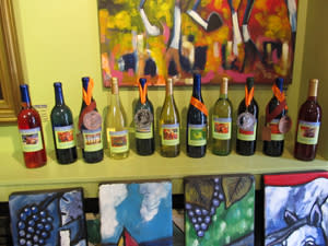 Selection of Lime Berry wines.