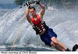 Water skiing in Hammondsport.