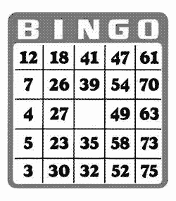 Bingo at Winterfest - giving back
