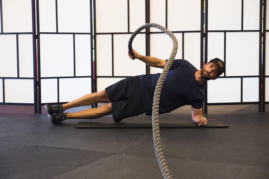 Burn SLC Battle Ropes Side Plank
