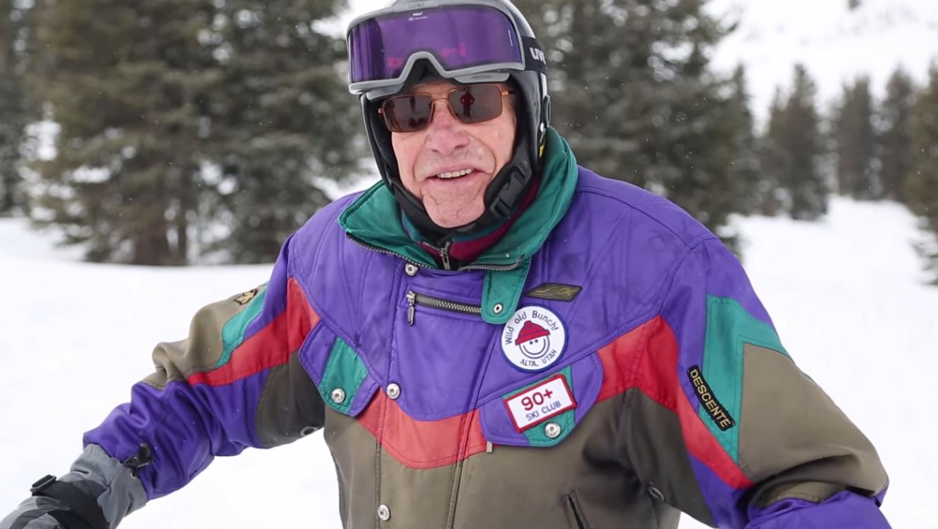 George Jedenoff skiing in Utah