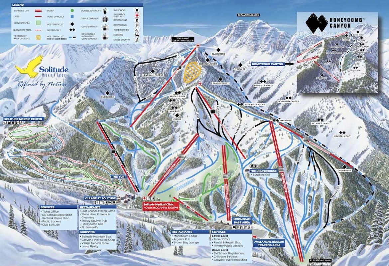 Solitude Trail Map 2015