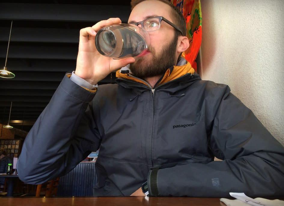 Drinking Water at Yellowtail