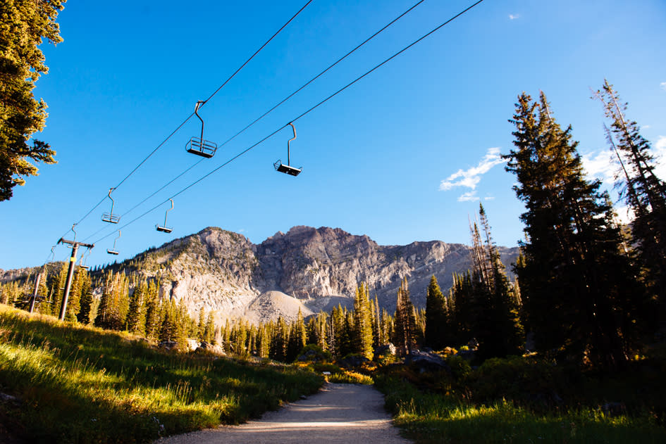 Alta Chairlifts in Summer