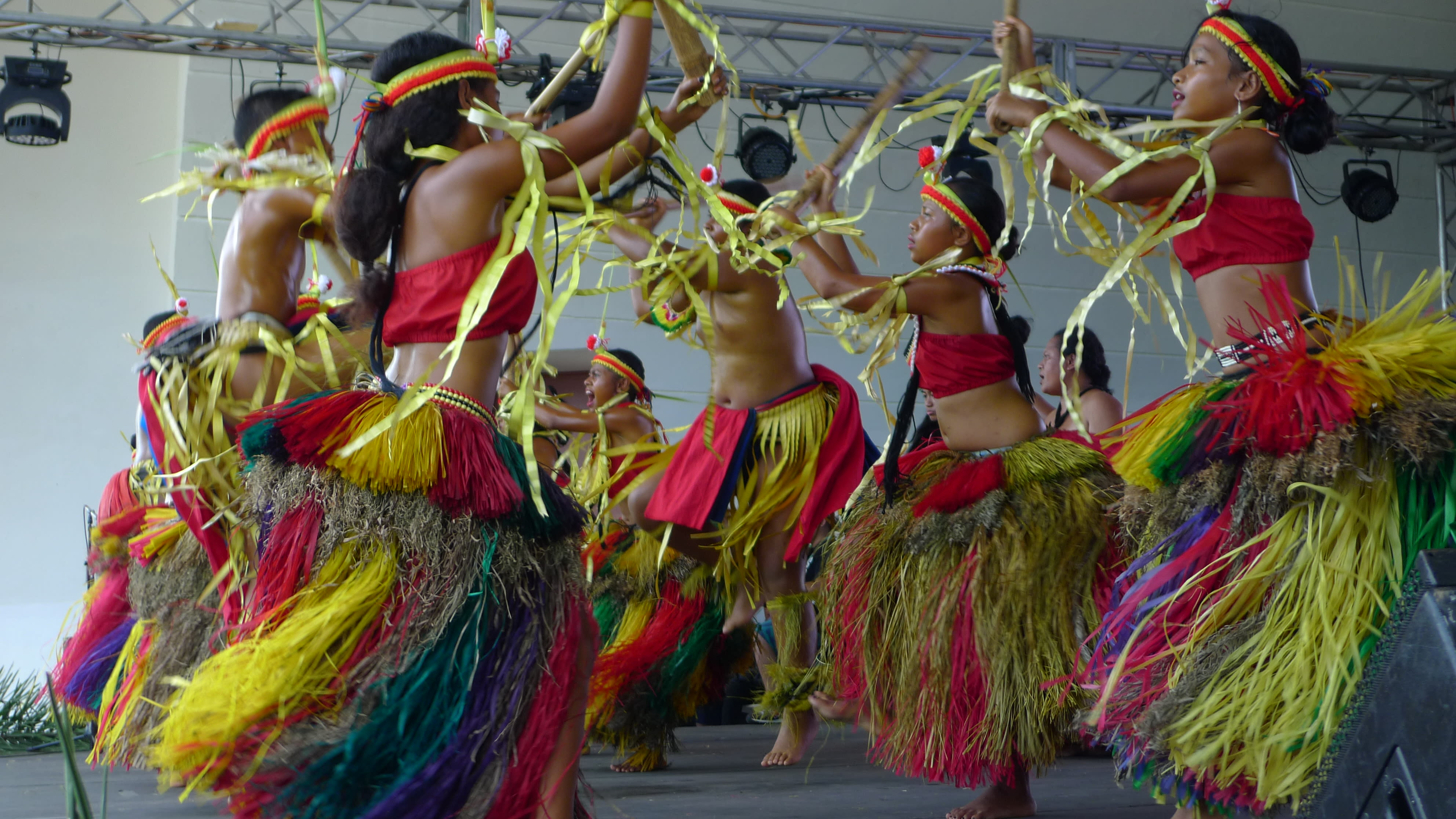 Cultural dancers perform at the Guam Micronesia Island Fair