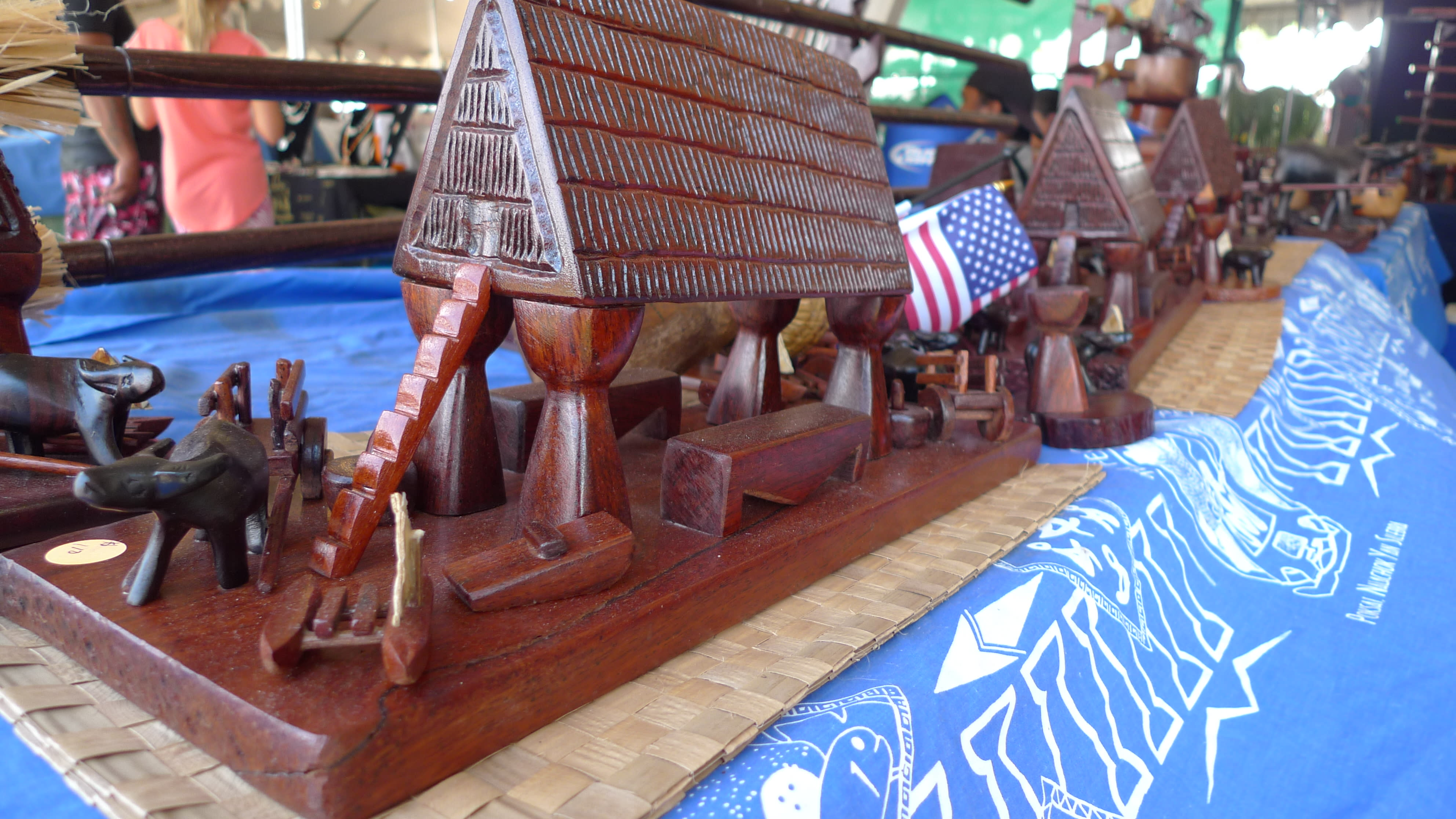 Local wood carving
