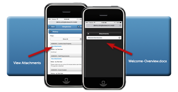 Mobile CRM Attachment Access