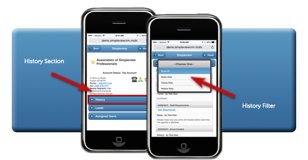 Mobile CRM History