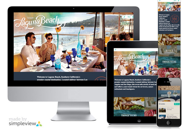 Responsive design of Visit Laguna Beach