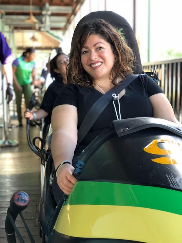 Bobsledding on Mystic Mountain
