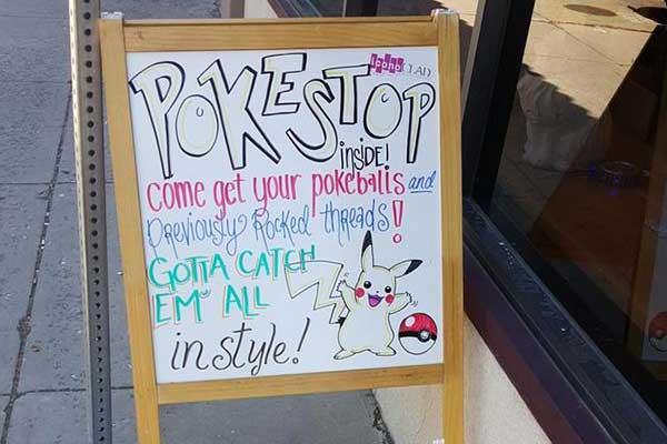 Pokestop Sign