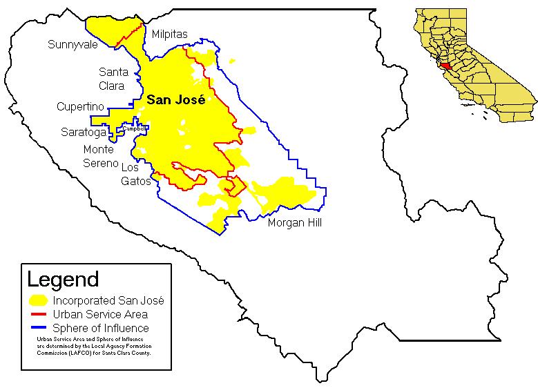 San Jose City Map