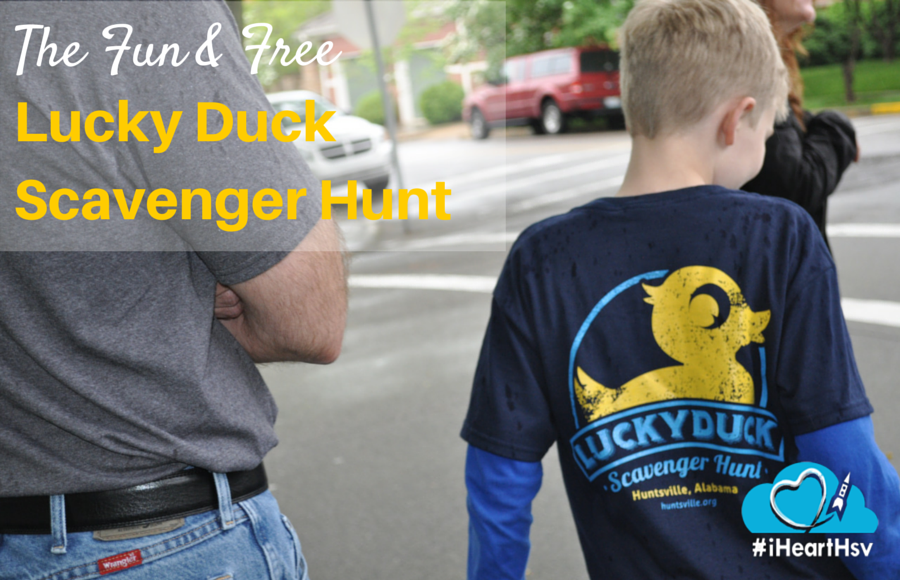 Totally Fun, Totally Free Lucky Duck Scavenger Hunt in Huntsville, Alabama via iHeartHsv.com