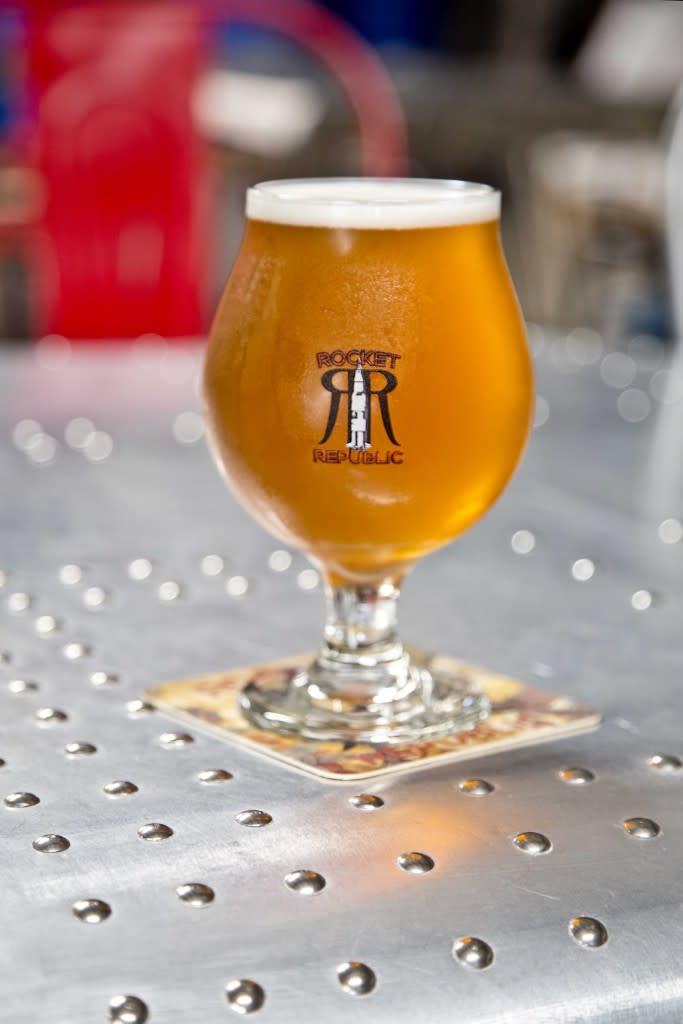 Rocket Republic Brewing's Terrestri-Ale Tripel via iHeartHsv.com