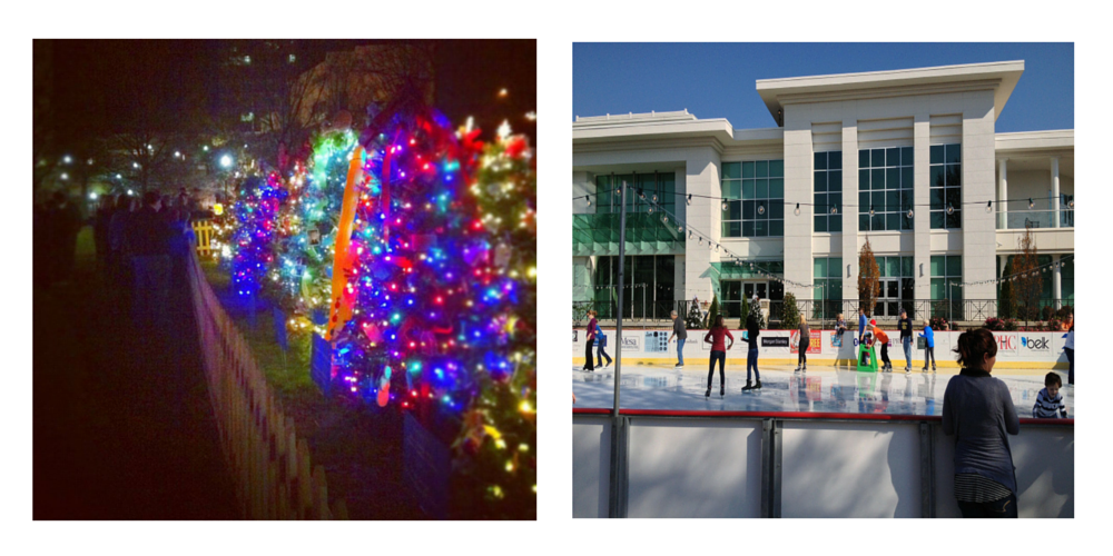 Tinsel Trail and Skating in the Park in Huntsville, Alabama