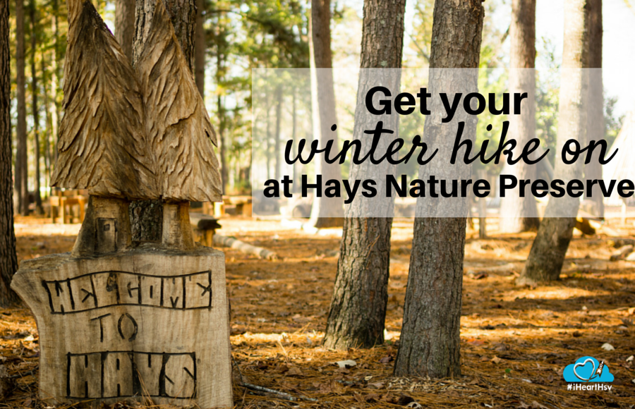 Get your winter hike on at Hays Nature Preserve in Huntsville, Alabama via iHeartHsv.com