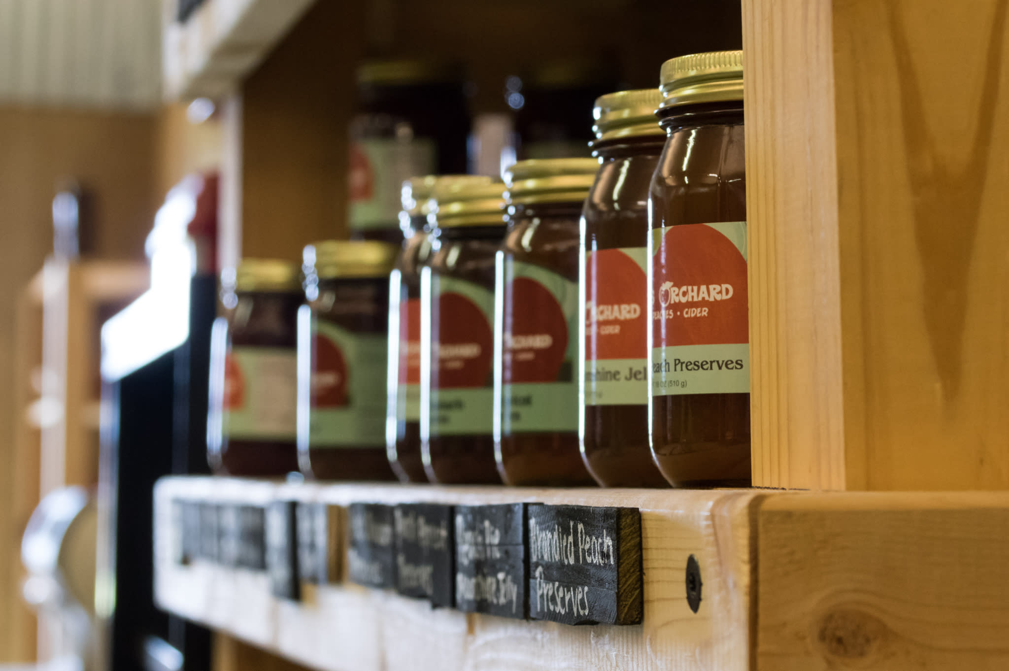 This is a photo of Scott's Orchard jams and preserves